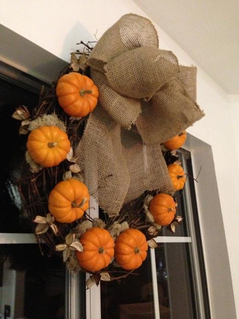 Pumpkin Wreath Project 3